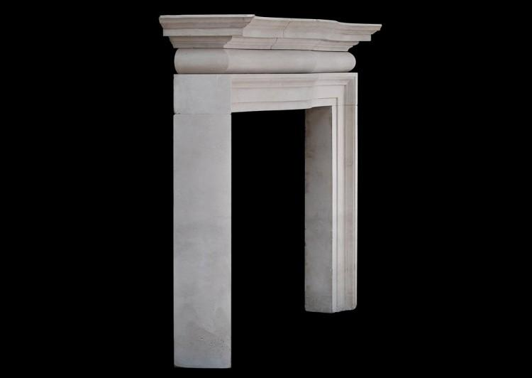 A LARGE AND IMPOSING ENGLISH PORTLAND STONE FIREPLACE-Detail5