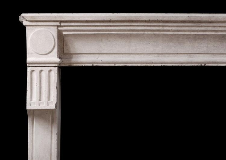 A RUSTIC 18TH CENTURY FRENCH LOUIS XVI LIMESTONE FIREPLACE-Detail1