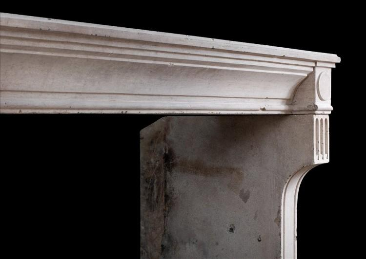 A RUSTIC 18TH CENTURY FRENCH LOUIS XVI LIMESTONE FIREPLACE-Detail3