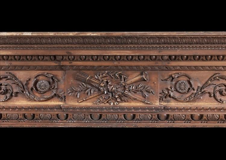 A LATE 18TH CENTURY CARVED PINE ENGLISH FIREPLACE-Detail2