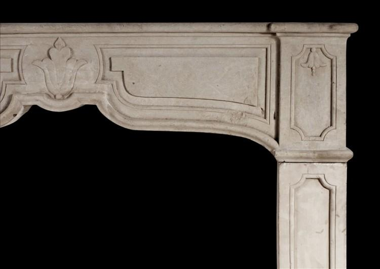 A RUSTIC FRENCH STONE FIREPLACE-Detail1
