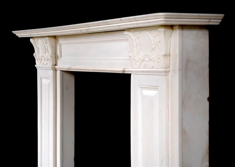 A STATUARY REGENCY MARBLE FIREPLACE IN THE MANNER OF THOMAS HOPE-Detail22
