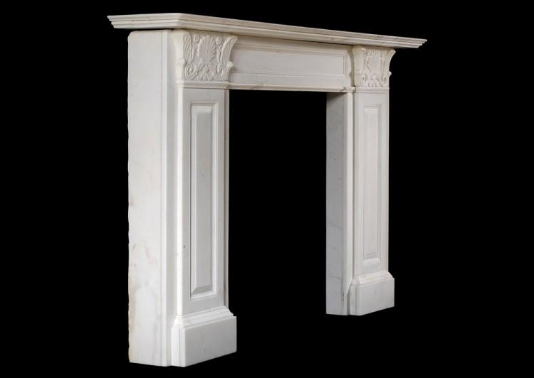 A STATUARY REGENCY MARBLE FIREPLACE IN THE MANNER OF THOMAS HOPE-Detail3