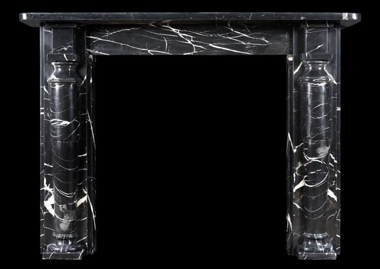 An English fireplace in Nero Marquina Marble