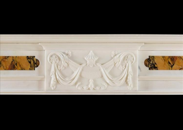 A LATE GEORGIAN ANTIQUE STATUARY AND SIENA MARBLE CHIMNEYPIECE-Detail2