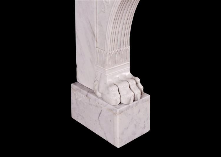 A 19TH CENTURY ITALIAN FIREPLACE IN CARRARA MARBLE-Detail4