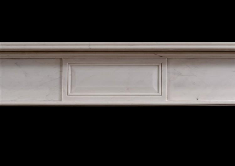 A REGENCY STYLE WHITE MARBLE FIRE SURROUND-Detail2