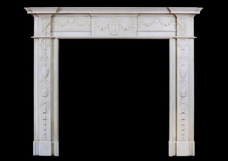 A George III Marble Chimneypiece in the Manner Robert Adam