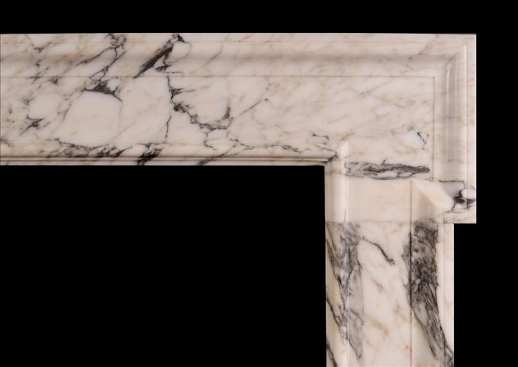 A GEORGIAN STYLE FIREPLACE IN ARABESCATO MARBLE-Detail1
