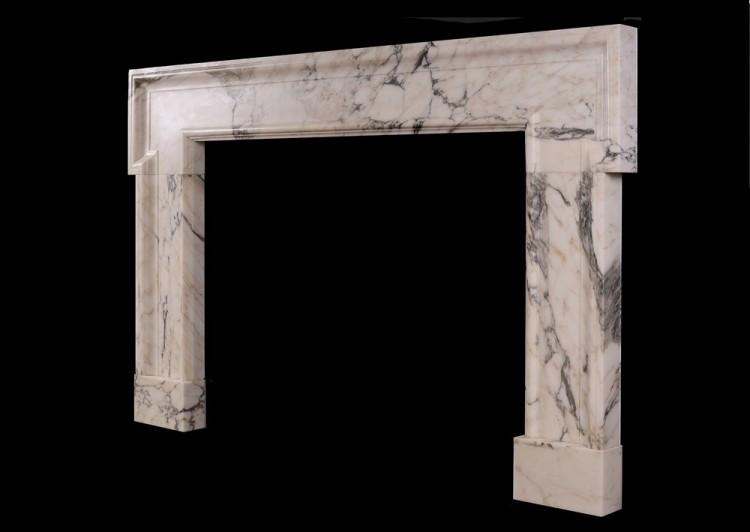 A GEORGIAN STYLE FIREPLACE IN ARABESCATO MARBLE-Detail2