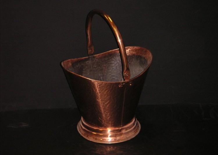 A simple copper coal bucket