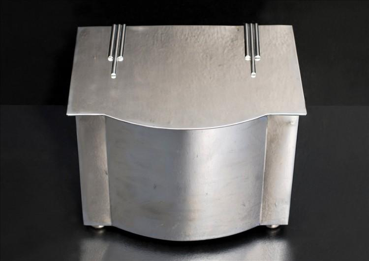 A POLISHED STEEL COAL BUCKET-Detail1