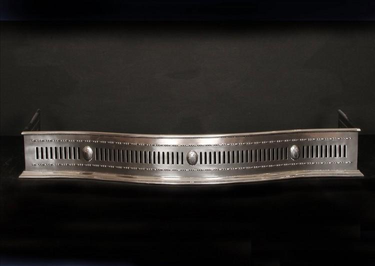 An English pierced steel fender 44 inch