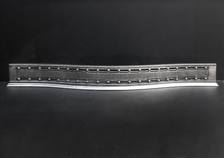 An 18th century steel serpentine fender