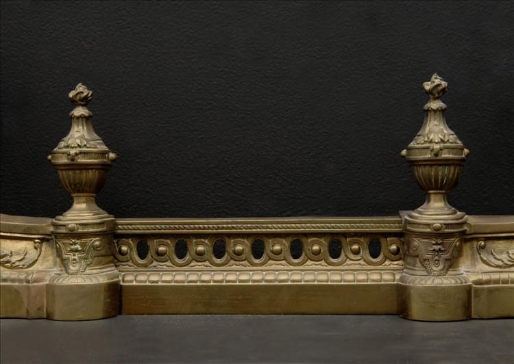 A DECORATIVE BRASS FRENCH FENDER WITH URNS-Detail1