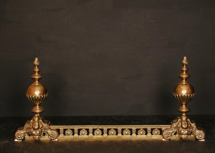 A decorative brass french fender – 19th century