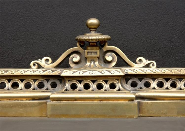 A DECORATIVE BRASS FRENCH FENDER-Detail1