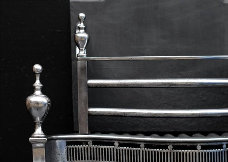 A POLISHED STEEL FIRE BASKET IN THE GEORGIAN STYLE-Detail2