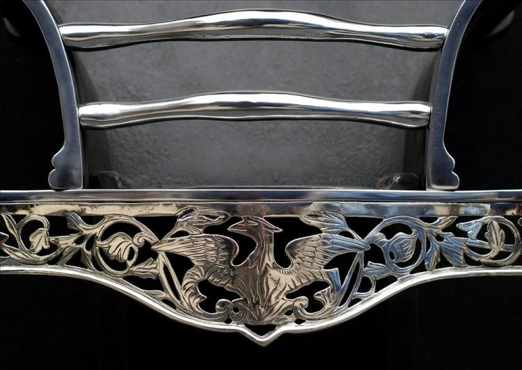 A NICELY ENGRAVED STEEL AND NICKEL FIREBASKET-Detail3