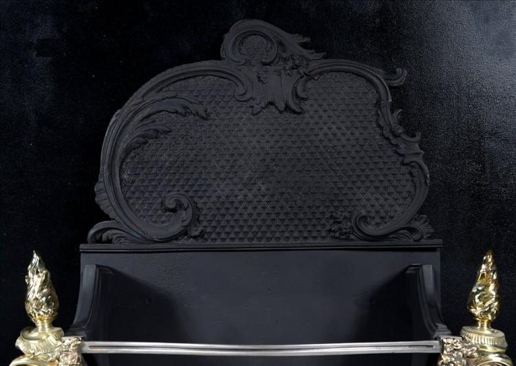 A ROCOCO REVIVAL BRASS AND CAST IRON FIREGRATE-Detail2