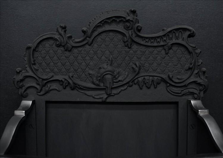 A ROCOCO STYLE BRASS AND STEEL FIRE GRATE-Detail3