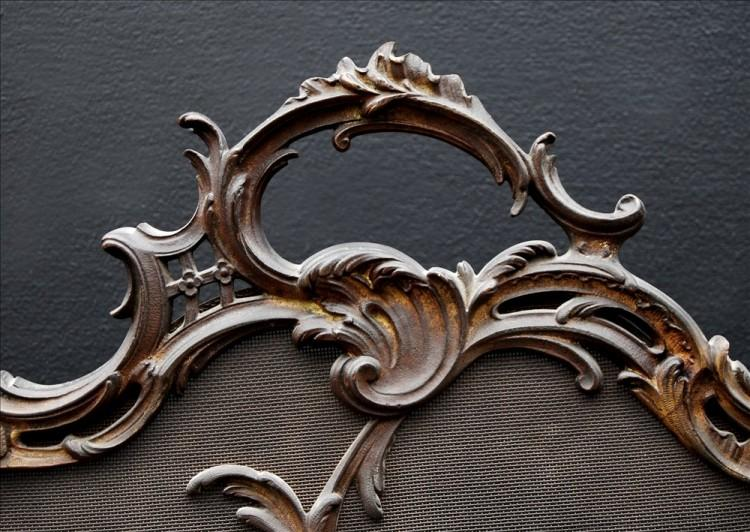 A FRENCH LOUIS XV STYLE BRASS FIRESCREEN-Detail1