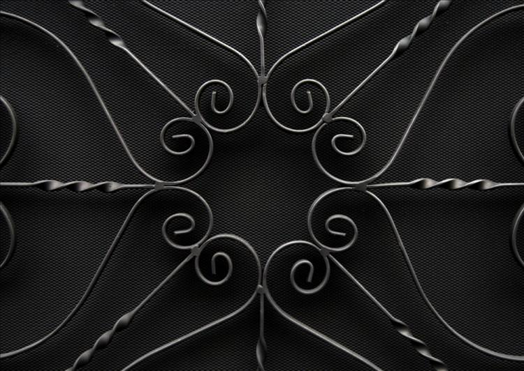 A LARGE ENGLISH WROUGHT IRON FIRESCREEN-Detail2