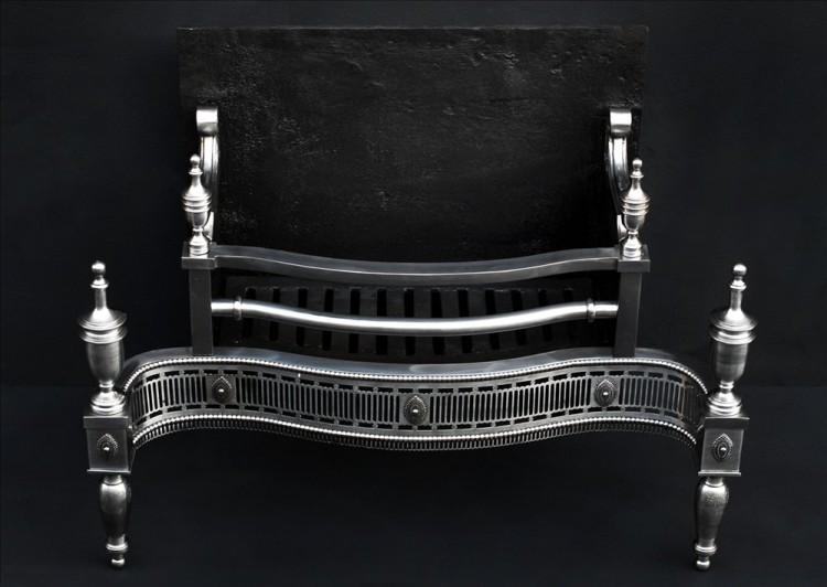 A GEORGE III STYLE STEEL FIREGRATE-Detail4