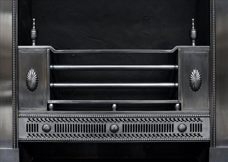A CLASSICAL GEORGE III STYLE STEEL REGISTER GRATE-Detail1