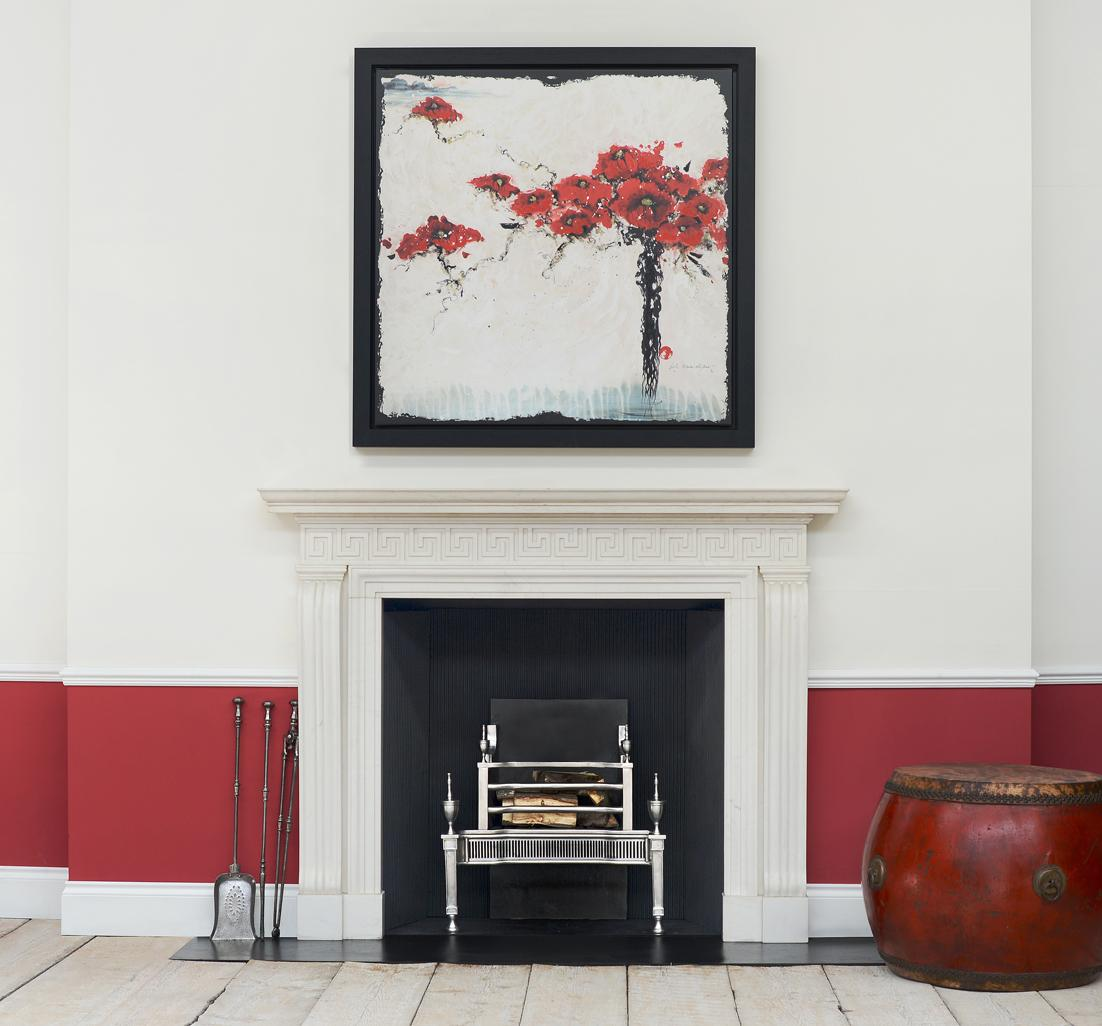 Greek Key Fireplace in situ - (low res)