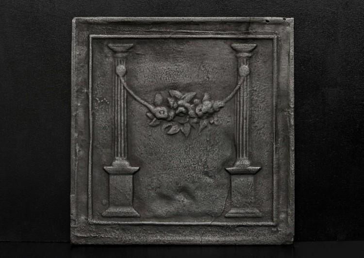 A neo-classical cast iron fireback