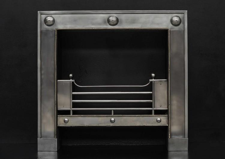A small steel register grate