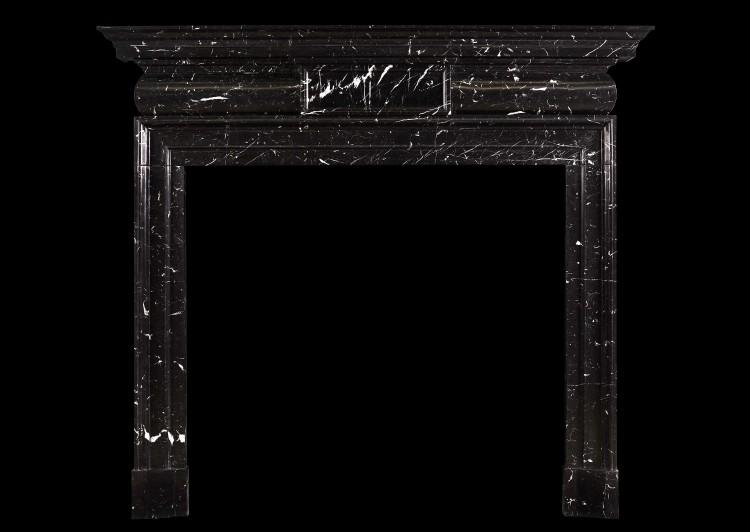 A Georgian Style marble fireplace in Nero Marquina