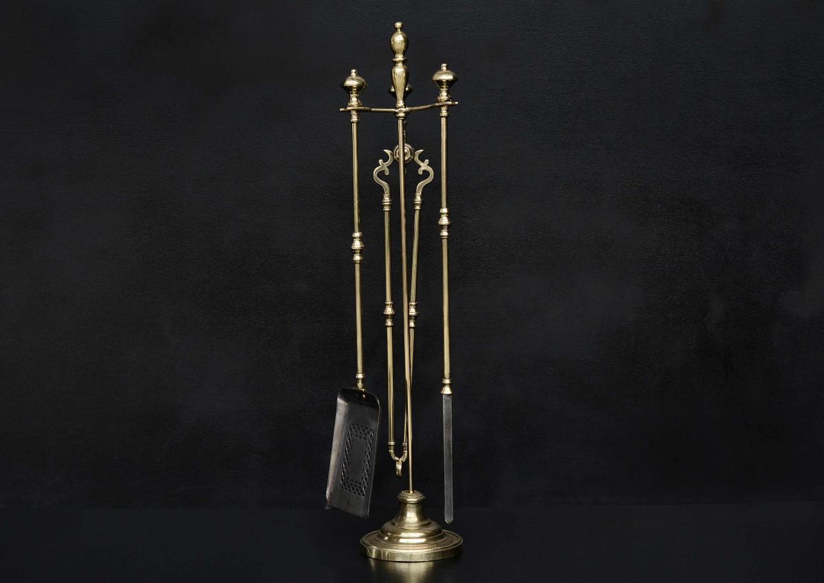 Brass-Firetool-Stand