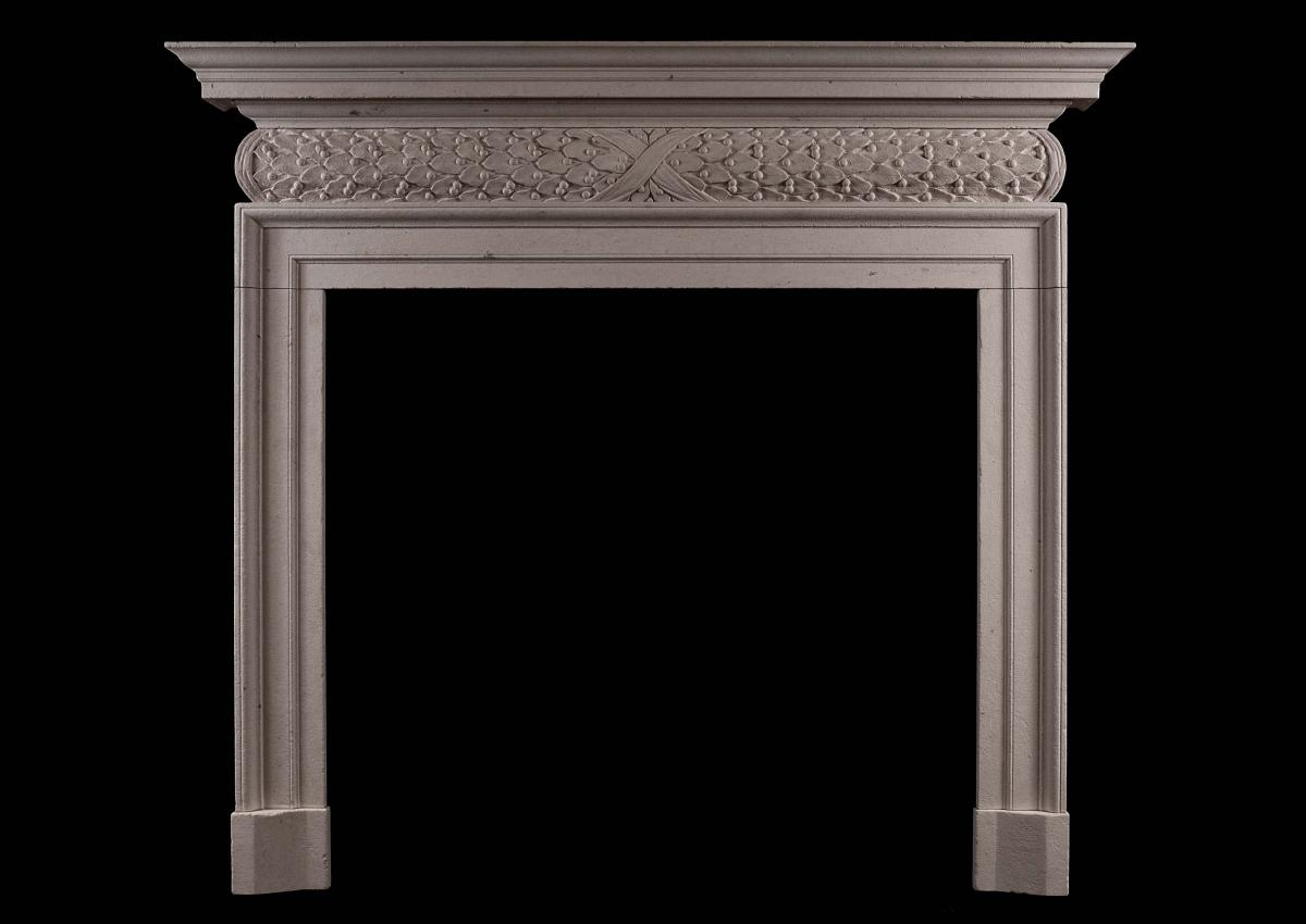 antique stone fireplace