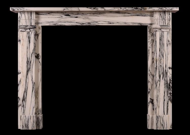 An English fireplace in the Regency manner