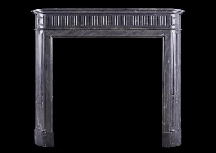 A Louis XVI style fireplace in Bardiglio marble