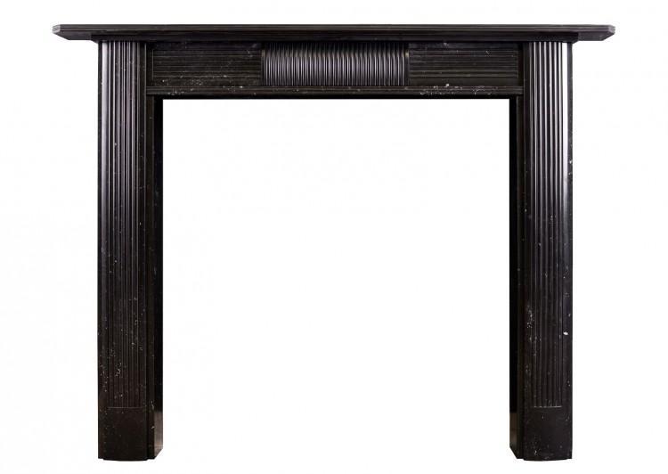 A Regency fireplace in black Kilkenny marble