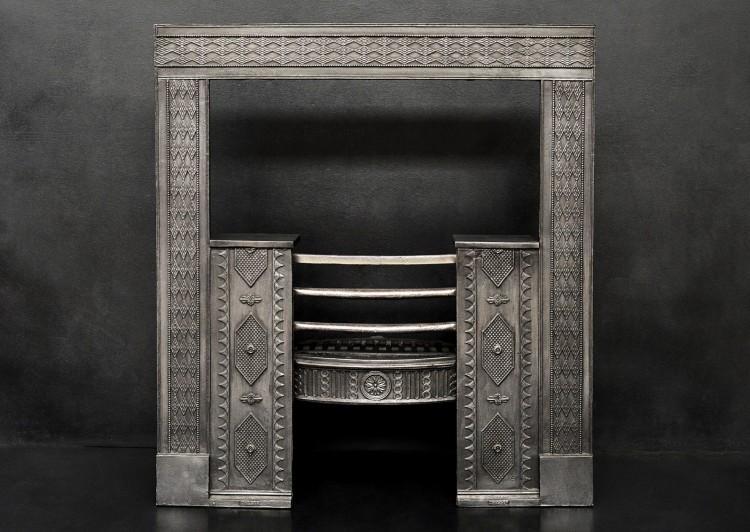 A 19th century cast iron register grate