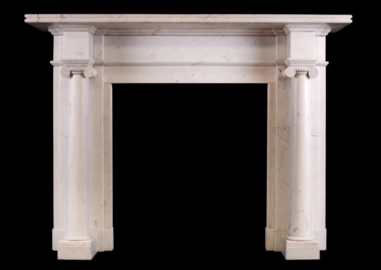 An antique Statuary fireplace in the Georgian style