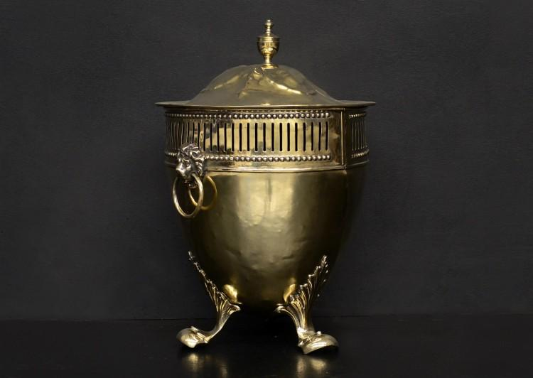 A Regency style brass coal bucket