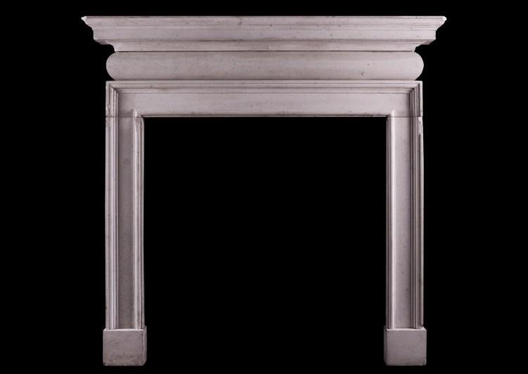 An English limestone fireplace